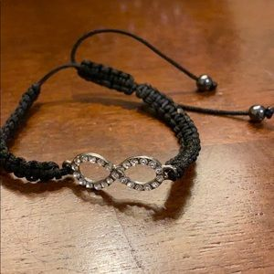 Black infinity bracelet
